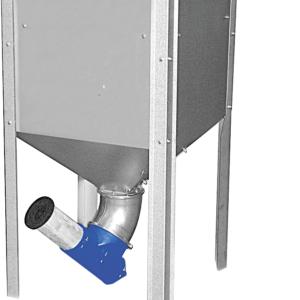 Silos et accessoires pour extraction du combustible par vis sans fin